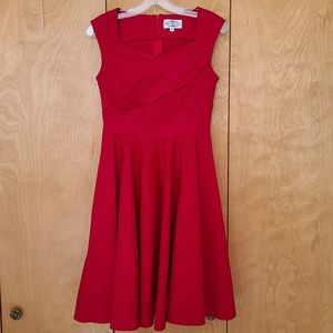 Maggie Tang fit & flare red dress pinup rockabilly